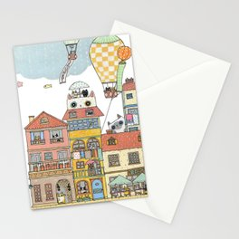 79 Cats in Harbor City Stationery Cards