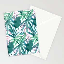 Palm Leaves Drawing Pattern Stationery Cards
