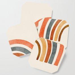 Abstract Rainbow 88 Coaster