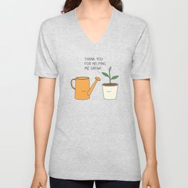 Thank you for helping me grow! Unisex V-Neck