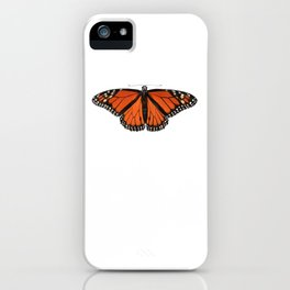 Monarch (Danaus plexippus) iPhone Case