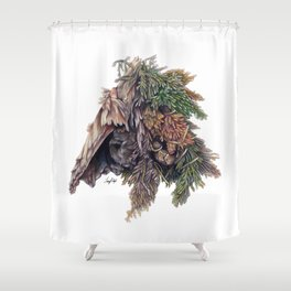 Colors of the Cypress Shower Curtain