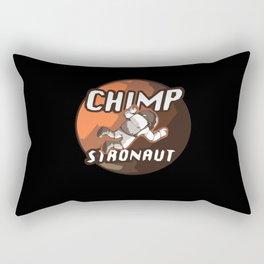 Chimpstronaut Astronaut Chimpanzee Rectangular Pillow