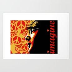 John Lennnon Imagine  Art Print