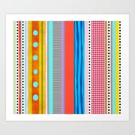 Polka Dots  and Colorful Fun Art Print