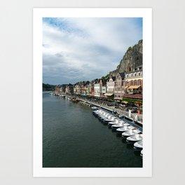 On the Meuse River Art Print