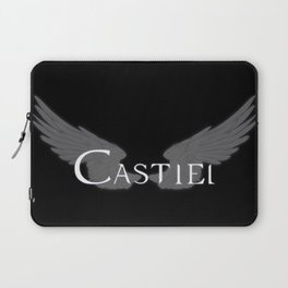 Castiel with Wings White Laptop Sleeve