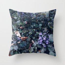 Proud Little Purple Flowers Throw Pillow