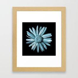 Dinged - aqua Framed Art Print