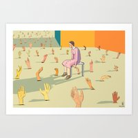 hands Art Prints featuring Hands by Nahal
