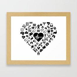 I Love First Aid | Doctor Nurse Heart Hospital Framed Art Print