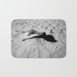 'All of Me' reclining nude brunette female form black and white photograph / art photography  Bath Mat
