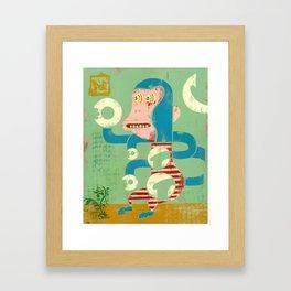 M is for Monkey Framed Art Print