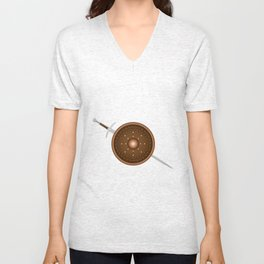 Claymore and Shield Unisex V-Neck