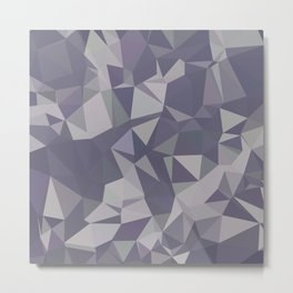 Lavender Purple Abstract Low Polygon Background Metal Print
