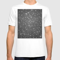 Logic Will Get You From Point A to Point B (Geometric Web/Constellations) White MEDIUM Mens Fitted Tee