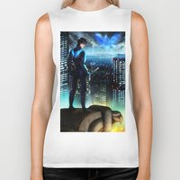 nightwing Biker Tanks featuring Nightwing by Cielo+