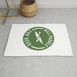 Will Paddle For Beer Rug