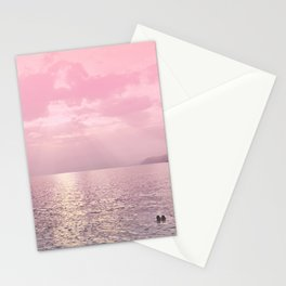 Kiss In The Lake At Sunset Stationery Cards