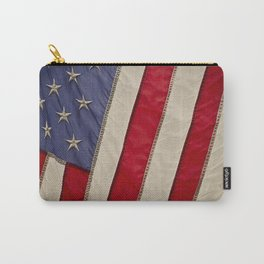 Macro Photo of an American Flag in the Sun Light Carry-All Pouch