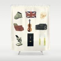 221b Shower Curtains featuring 221B Baker Street by CHOCOMINT GEEK