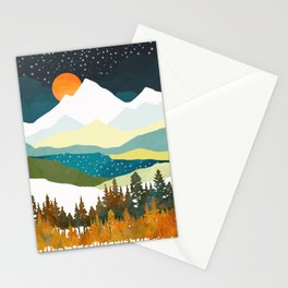 Winters Night Stationery Cards