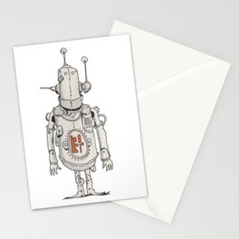 JunkBot in Red MK1 Stationery Cards