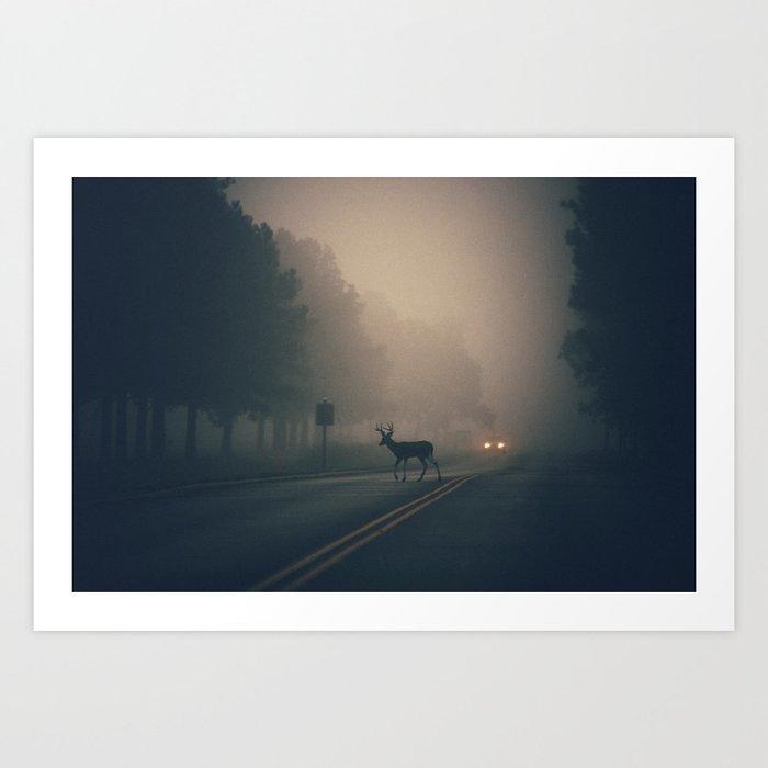 an early morning crossing Art Print