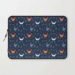 Little Hens (blue) Laptop Sleeve
