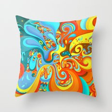Swerve Throw Pillow