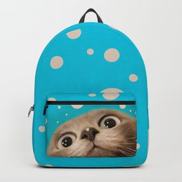 """Fun Kitty and Polka dots"" Backpack"