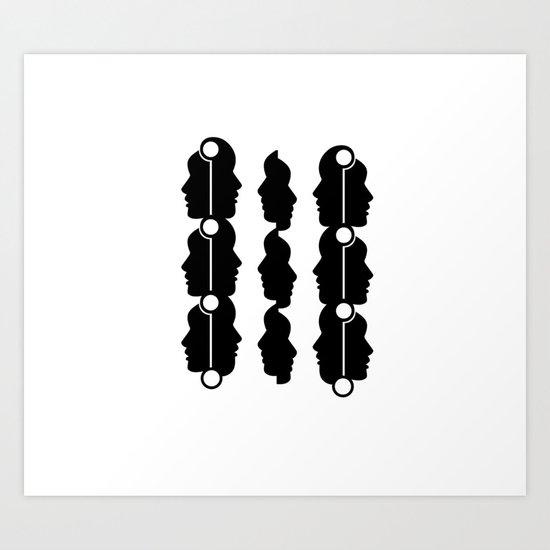 Black silhouette Art Print