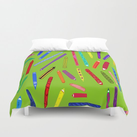 Fun loving crayons Duvet Cover