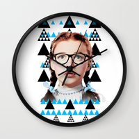 dorothy Wall Clocks featuring Future Dorothy by Xanthe Simmans