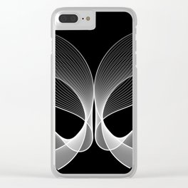 Abstract Butterfly black and white Clear iPhone Case