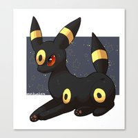 umbreon Canvas Prints featuring Umbreon by Mirikun
