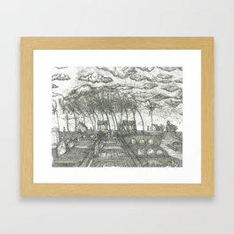 Graveyard Framed Art Print