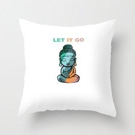 Retro Buddhist Buddha Buddhism Zen Yoga Relaxation Throw Pillow