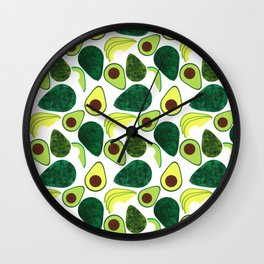 Avocados Wall Clock