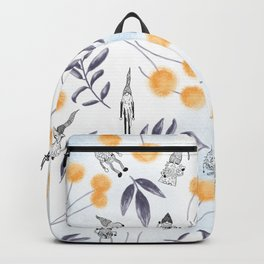 Gnome Magic Black And Orange Backpack