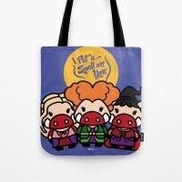 hocus pocus Tote Bags featuring Hocus Pocus by worldboar