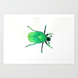 Juni, the june bug. Art Print