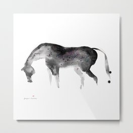 Horse (Painted II) Metal Print