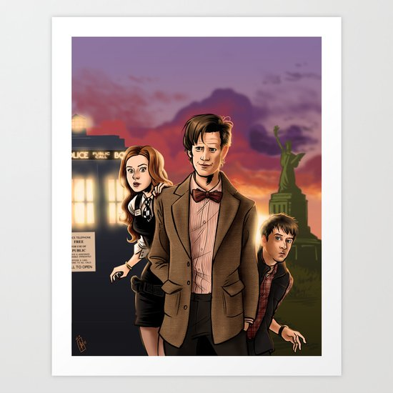 Sunsets Are Cool - Doctor Who Art Print