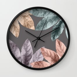 Vintage Leaf Design 4 Wall Clock
