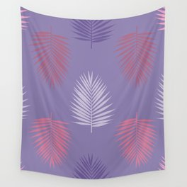 Ultra violet tropical palm leaves seamless pattern. Vector illustration. Wall Tapestry