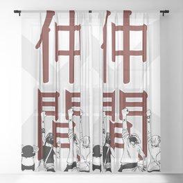 One Piece X Nakama Sheer Curtain