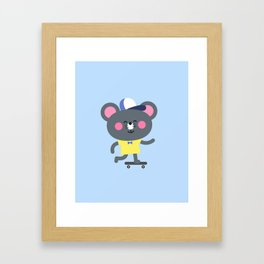 Cool Skateboard Mouse Framed Art Print
