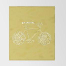 Sunflower Bike Throw Blanket