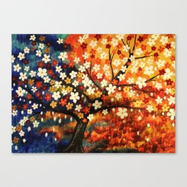 Flower Gold Dust Canvas Print